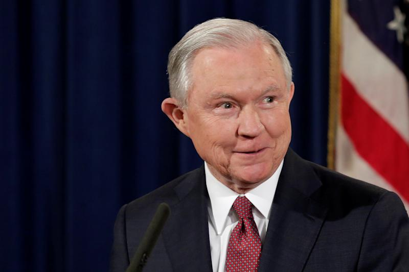 U.S. Attorney General Jeff Sessions speaks at a news conference to address the Deferred Action for Childhood Arrivals (DACA) program at the Justice Department in Washington, U.S., Sept. 5, 2017. (Yuri Gripas / Reuters)