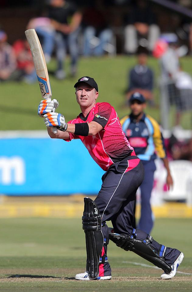 CAPE TOWN, SOUTH AFRCA - OCTOBER 16:  Sydney Sixers captain Brad Haddin in action during the Champions League twenty20 match between Sydney Sixers (Australia) and Yorkshire (England) at Sahara Park Newlands on October 16, 2012 in Cape Town, South Africa. (Photo by Carl Fourie / Gallo Images/Getty Images)