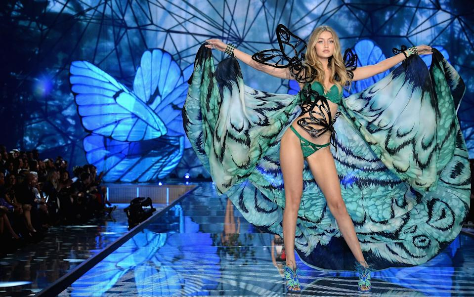 <p>Newly appointed Angel Gigi Hadid was dressed like a butterfly in 2015. [Photo: Getty] </p>