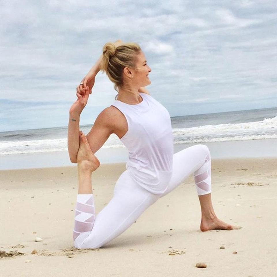 """<p>The term 'yoga butt' is no joke—just check out the down dogs all around you in most any class. """"Yoga lets you sculpt, mold, and tone your lower body using just your body weight,"""" notes celebrity yoga instructor Hilaria Baldwin (but it's not the *only* way to build a stronger bootie—<a href=""""https://www.shape.com/fitness/videos/best-kettlebell-exercises-your-butt"""" target=""""_blank"""">these kettlebell moves can do wonders, too</a>). Of course, the right strengthening moves stretch you too, so you're elongating your muscles *and* working them harder, she says. Want in on a stronger backside? Incorporate the below yoga-inspired moves into your routine once a day, and you will be well on your way to that derrière you've been after. The moves work your glutes, firm up your backside, and leave you feeling strong. Craving some hand weights? <a href=""""https://www.shape.com/fitness/workouts/best-butt-workout-with-weights"""" target=""""_blank"""">This weighted workout strengthens your rear</a>, too.</p>"""
