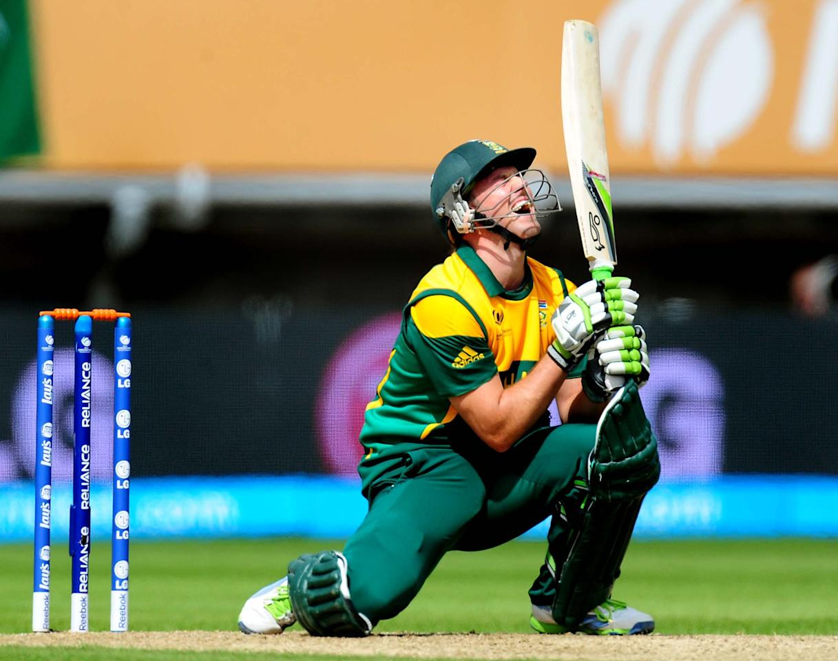 South Africa's AB de Villiers during the ICC Champions Trophy match at Edgbaston, Birmingham.