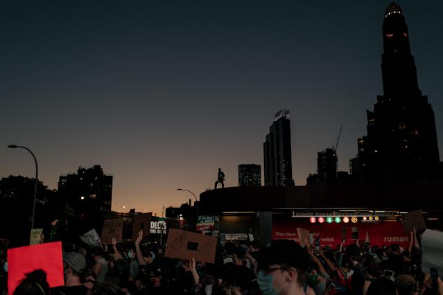 A protest in Brooklyn this weekend. (Scott Heins/Getty Images)