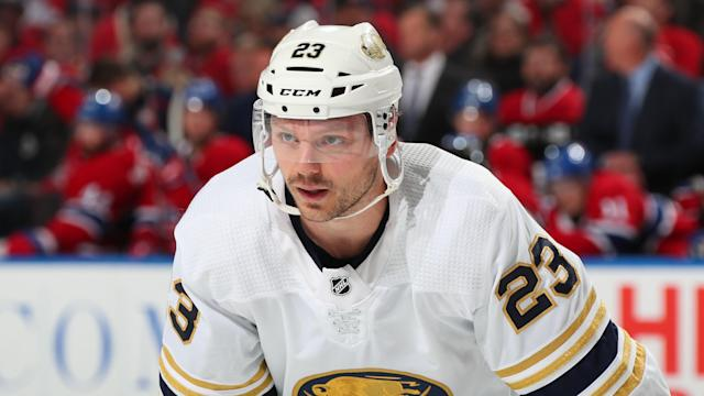 The Sabres being in shambles is no reason for Sam Reinhart to begin answering silly questions from the Buffalo media. (Photo by Bill Wippert/NHLI via Getty Images)