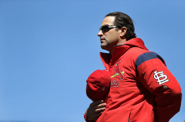 "Ex-Cardinals manager Mike Matheny is back in baseball as a special advisor to the <a class=""link rapid-noclick-resp"" href=""/mlb/teams/kan"" data-ylk=""slk:Kansas City Royals"">Kansas City Royals</a>. (AP Photo)"