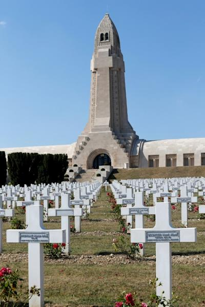 The Douaumont memorial contains the remains of soldiers who died in the Battle of Verdun