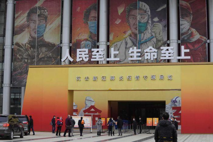 WHO experts went to an exhibition in Wuhan