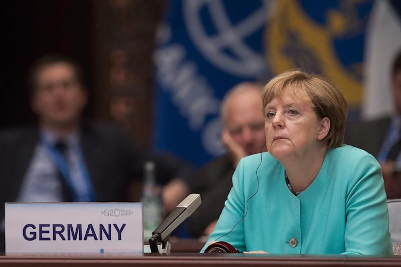 German Chancellor Angela Merkel pictured at the G20 summit in Hangzhou, China, on September 4, 2016 (AFP Photo/)
