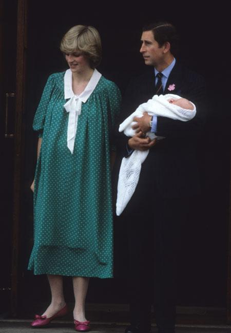 Soon after the birth of the Royal Prince or Princess, Catherine, the Duchess of Cambridge, and Prince William will make an appearance to the media, as Charles and Diana made their first appearance as parents way back in 1982.<br><br>LONDON, UNITED KINGDOM - JULY 22: Prince Charles, Prince of Wales and Diana, Princess of Wales leave the Lindo Wing St Mary's Hospital with baby Prince William on July 22, 1982 in London, England. (Photo by Anwar Hussein/Getty Images)