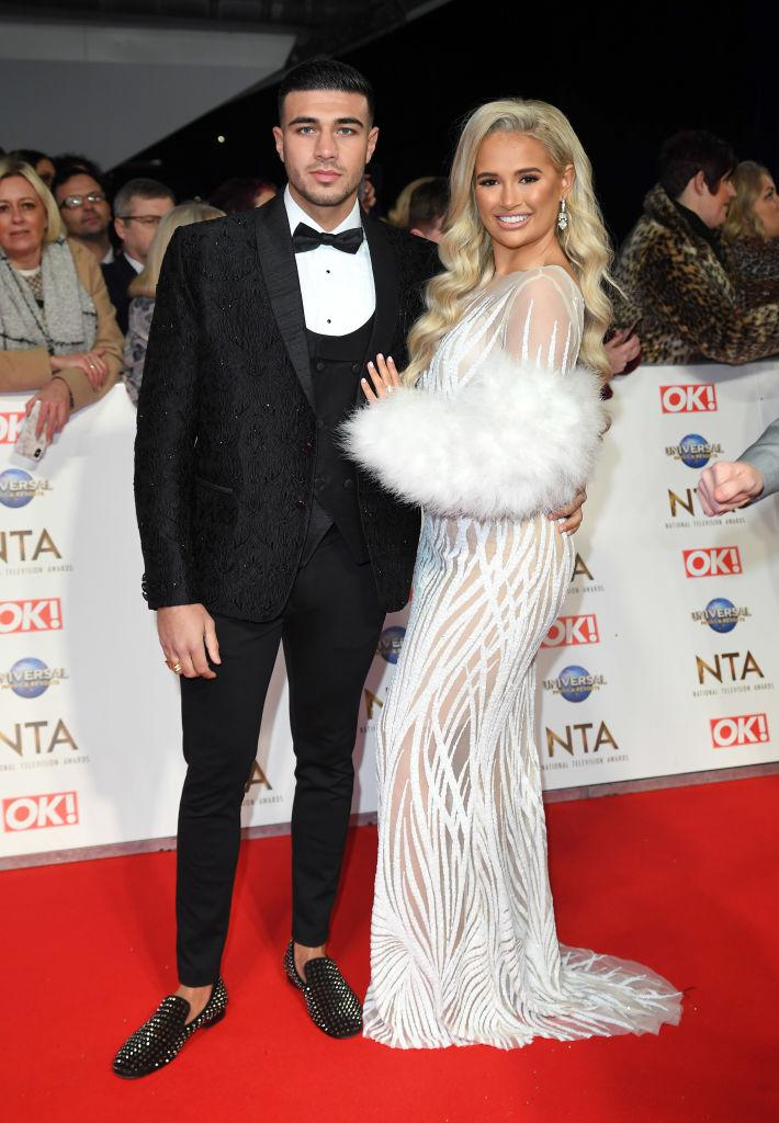 Molly-Mae Hague has given fans an update on her health, pictured with her boyfriend Tommy Fury in January 2021. (Getty Images)