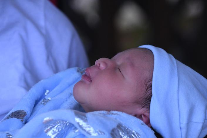 Sincere Young was the first of the three sisters' babies to be born on July 3, arriving at 10:10 a.m.