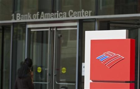A Bank of America shareholder walks into the corporate headquarters prior to the start of the annual shareholders meeting in Charlotte
