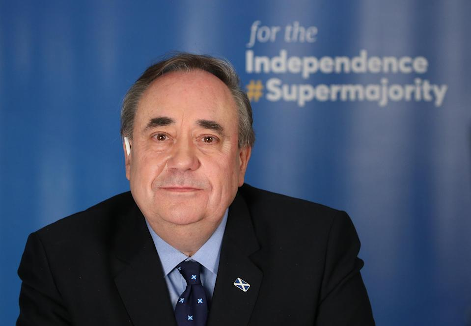Alex Salmond hopes his new Alba Party can be part of a pro-independence 'supermajority' at Holyrood (Andrew Milligan/PA)