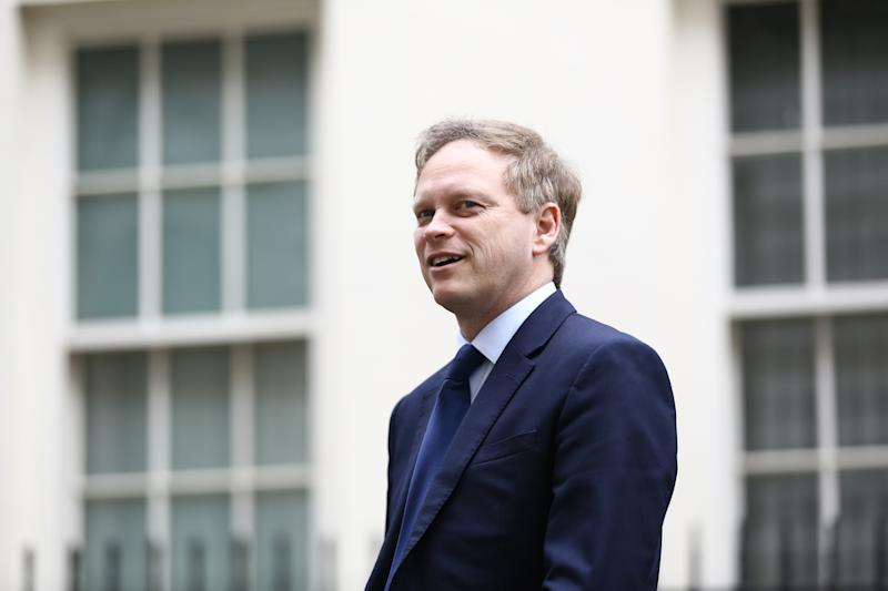 Transport Secretary Grant Shapps in Downing Street following a cabinet meeting ahead of the Budget.