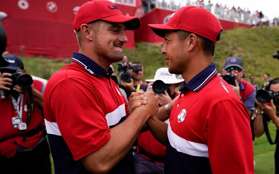 """DeChambeau was at last being admired for who he is, without a single """"Brooksie"""" taunt in earshot - AP"""