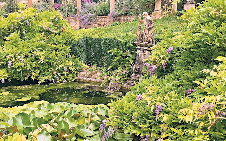 Prettier than fiction: Waterlilies cover the pond at Iford Manor's Grade I listed garden - Marianne Cartwright-Hignett