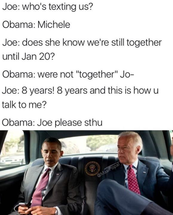 "We're not ""together,"" Joe."