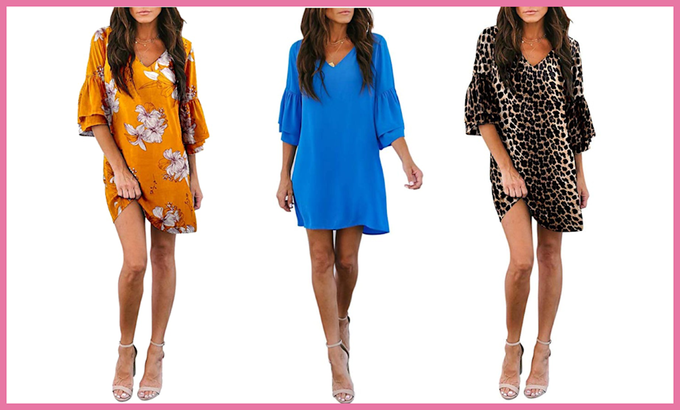 Set yourself up for fall with one of Amazon's most popular dresses. (Photo: Amazon)