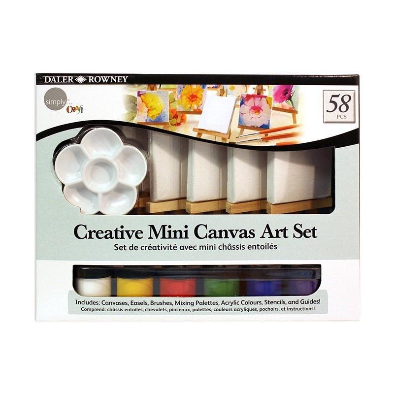 """Don't forget to include cute mini canvases for the natural artiste. $10, Walmart. <a href=""""https://www.walmart.com/ip/Daler-Rowney-Simply-Creative-Mini-Canvas-Art-Set-58-Piece-Includes-Canvases-Easels-Brushes-Mixing-Palettes-Acrylic-Paint-Stencils-and-Guides/53985986"""" rel=""""nofollow noopener"""" target=""""_blank"""" data-ylk=""""slk:Get it now!"""" class=""""link rapid-noclick-resp"""">Get it now!</a>"""