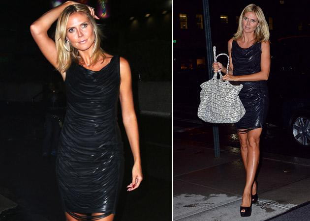 Heidi Klum in New York: Ziemlich heißer Fransen-Mini! (Bilder: Getty Images, Splash)