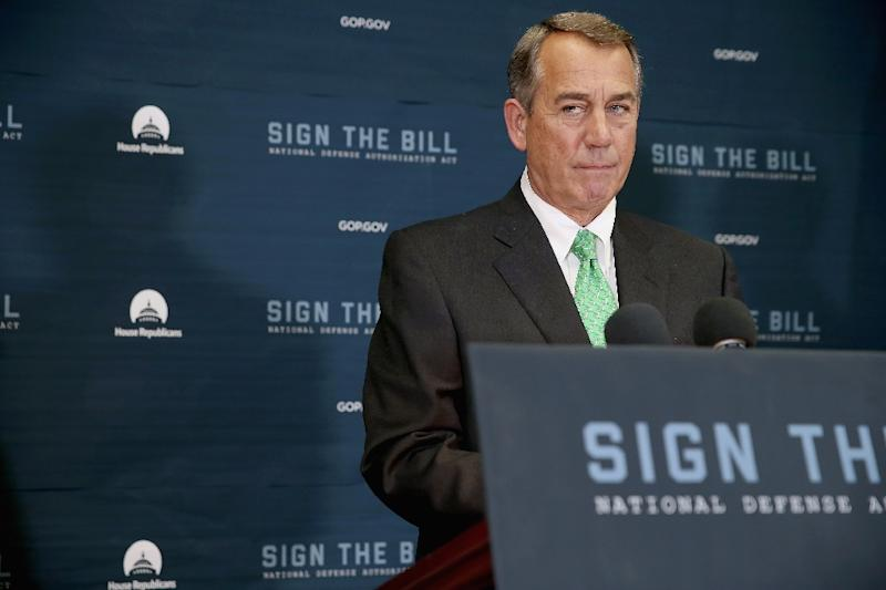 Speaker of the House John Boehner holds a news conference on October 21, 2015 (AFP Photo/Chip Somodevilla)