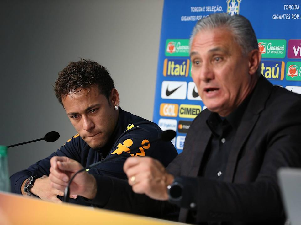Neymar was in tears during a press conference