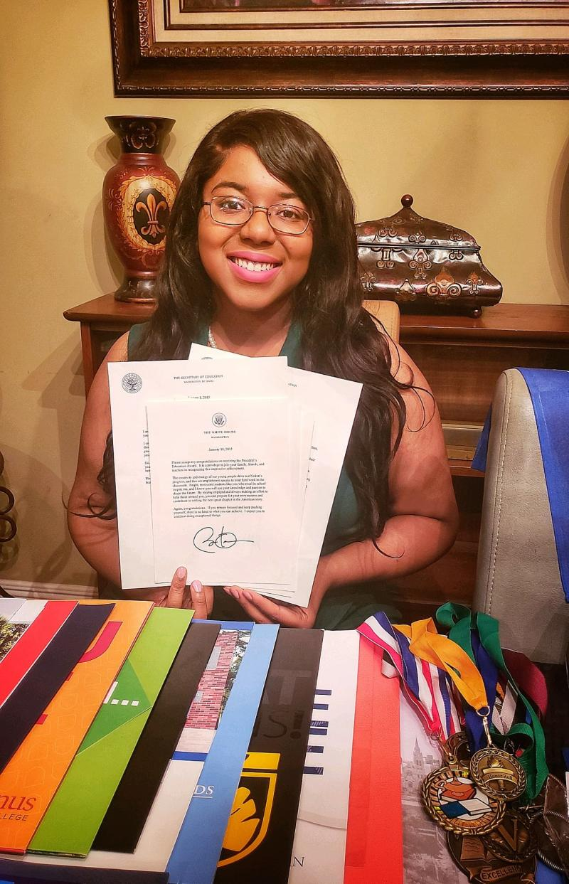 Normandie Cormier, 18, graduated from Early College Academy and South Louisiana Community College. She has been accepted to more than 100 colleges and awarded millions in scholarships. She's decided to attend Xavier University in New Orleans this fall in her path to become a doctor.