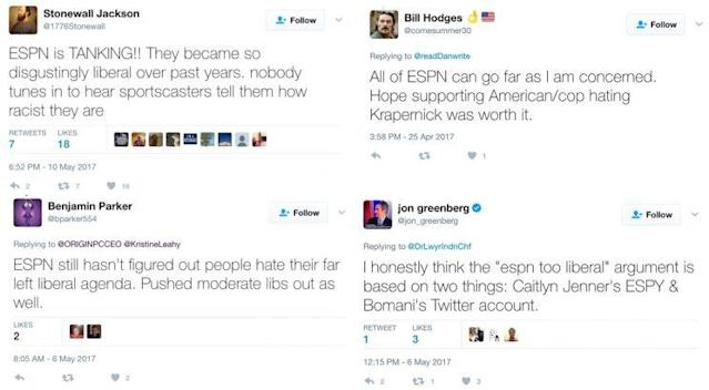 Recent tweets about ESPN's politics