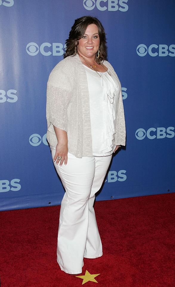 "<a href=""/melissa-mccarthy/contributor/698453"">Melissa McCarthy</a> (""<a href=""/mike-and-molly/show/46533"">Mike & Molly</a>"") attends the 2010 CBS Upfront at The Tent at Lincoln Center on May 19, 2010 in New York City."