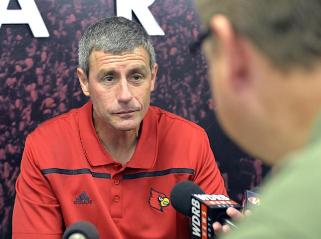 Chris Klenakis has been an assistant coach at Louisville since 2014. (AP Photo/Timothy D. Easley)