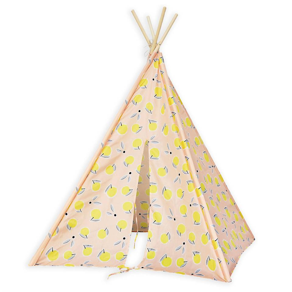 "<strong>Buy It!</strong> Marmalade™ Lemons Teepee in Pink ($80), <a href=""http://www.anrdoezrs.net/links/8029122/type/dlg/sid/PEO,10oftheCoolestProductsfromBedBath&Beyond'sNewMarmaladeKids'BedroomCollection,jenjuneauhaupt,Unc,Gal,7383735,201910,I/https://www.bedbathandbeyond.com/store/product/marmalade-trade-lemons-teepee-in-pink/5329519"" target=""_blank"" rel=""nofollow"">bedbathandbeyond.com</a>"
