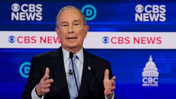 PHOTO: Democratic 2020 presidential candidate Mike Bloomberg speaks during the tenth Democratic 2020 presidential debate at the Gaillard Center in Charleston, South Carolina, Feb. 25, 2020. (Jonathan Ernst/Reuters)