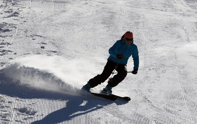 The Korek ski resort is located on top of Korek Mountain at the altitude of 2000 meters, 100 km (62 miles) north of Arbil, and is the first resort of its kind in Kurdistan and Iraq (AFP Photo/Safin HAMED)
