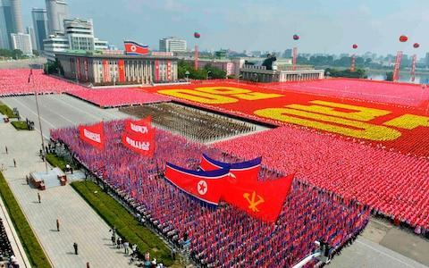 <span>The image North Korea wants to project: A huge military parade in Pyongyang in 2013</span> <span>Credit: Reuters </span>