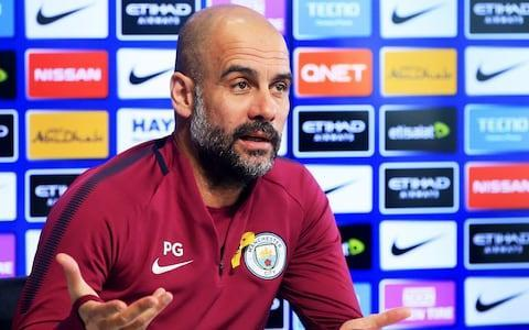 """Arsene Wenger has flatly dismissed the suggestion that Pep Guardiola has set new standards in management ahead of a League Cup final on Sunday that could further cement his own place in British football history. Victory would make Wenger only the eighth manager to complete a clean sweep of major domestic English trophies but, even with Arsenal 27 points adrift of Guardiola's City in the Premier League, he rejected the claim on Friday that the former Barcelona and Bayern Munich manager has changed football. Guardiola was also the manager of arguably the greatest club team in football history at Barcelona and has twice won the Champions League as well as hat-tricks of league titles in both Spain and Germany but, asked if the 48-year-old had changed football, Wenger replied: """"No. Why?"""" When Wenger was then asked if Guardiola had set a new standard over the past decade with his teams and how they play, he chose instead to highlight the concentration of playing talent at the biggest and richest clubs. """"No, because you look at Barcelona and they are still the best team in Europe,"""" said Wenger. """"I think you have to accept that the modern game has changed with the recruitment of the best players in a very small number of clubs and we, as managers, can maybe impart our philosophy. But this game belongs to the players because the importance of the players has become bigger than ever before."""" Pep Guardiola is looking to win his first trophy in English football Credit: Getty Images It was an instinctive but revealing response that suggested either supreme confidence or perhaps just a tinge of insecurity, even if it was later stressed that Wenger did not intend any criticism of Guardiola, who he also described as a """"good manager"""" with whom he shared a """"love for the game and a positive philosophy"""". Indeed, Wenger also revealed that Guardiola is on the long list of celebrated players who almost joined Arsenal during his tenure. That was back in 2001 but Wenger ultimately concluded"""