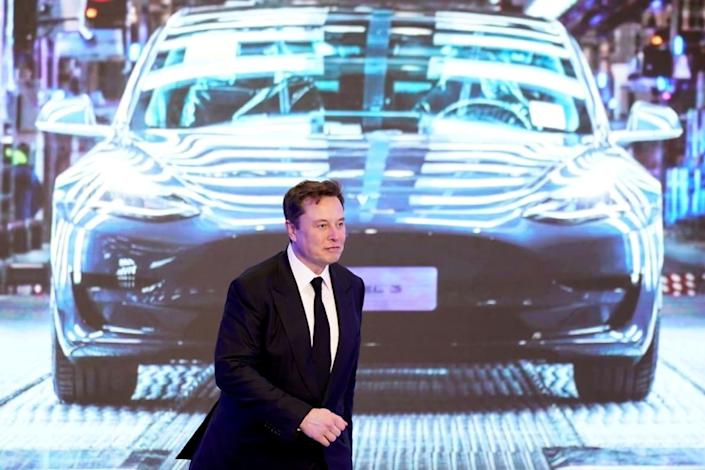 """<div class=""""inline-image__caption""""><p>Elon Musk during an opening ceremony for Tesla}s China-made Model Y program in Shanghai.</p></div> <div class=""""inline-image__credit"""">Aly Song/Reuters</div>"""