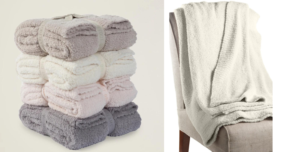 Nordstrom shoppers can't get enough of the CozyChic™ Throw Blanket. Images via Barefoot Dreams, Nordstrom.