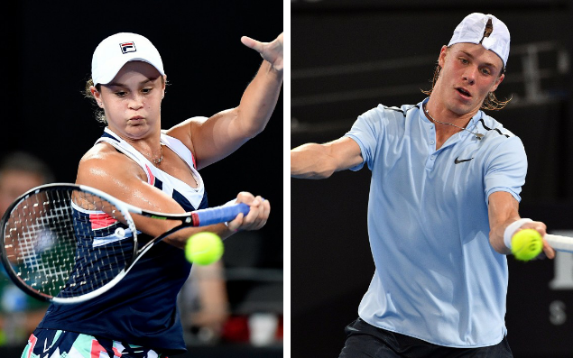Ashleigh Barty (L) and Denis Shapovalov (R) are among the youngsters looking to go deep at the Australian Open - getty images