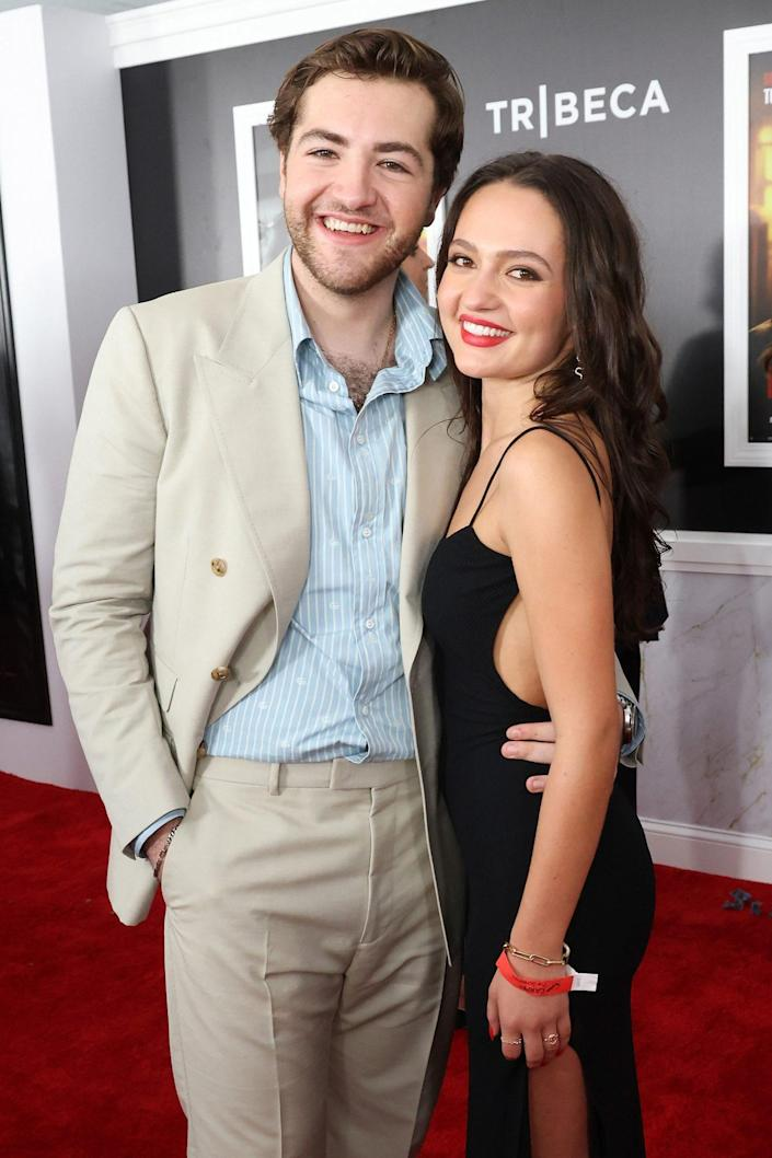 <p>Michael Gandolfini and Alexandra Intrator get their moment on Sept. 22 at the New York City premiere of <em>The Many Saints of Newark. </em></p>
