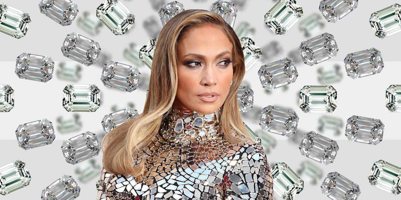 "<p>It was the engagement Instagram that caused us to stop dead in our collective tracks. Alex Rodriguez announced <a rel=""nofollow"" href=""https://www.townandcountrymag.com/style/jewelry-and-watches/a26774654/jennifer-lopez-engagement-ring-alex-rodriguez-worth-cost-details/"">his engagement to pop icon Jennifer Lopez</a> with a picture of a stunning emerald cut diamond, estimated to be between 10 and 15 carats and worth in the range of $1 to $5 million, on her left hand with a simple caption ""she said yes."" </p><p>While the sparkler is indeed stunning, it is not the first staggeringly beautiful diamond that J.Lo has received. The singer, actress, and all-around superstar has been engaged five times (she married only three of her fiancés), and has amassed quite the collection of striking rings, all of them square or emerald cuts. </p><p>Between her penchant for stunning jewels and her multiple engagements and husbands, we would be remiss not to<em> </em>draw comparisons to another marrying type: Elizabeth Taylor. The late actress was married eight times (twice to Richard Burton) and <em>perhaps </em>the only thing more famous than her many matrimonial tangos were her exquisite jewels. Which begs the question: is Jennifer Lopez the 21st century's Elizabeth Taylor? </p><p>See all of Lopez's engagement rings from Ojani Noa, Chris Judd, Ben Affleck, Marc Anthony, and Alex Rodriguez, here. <em></em></p>"