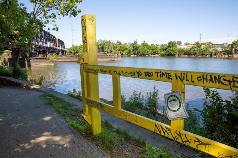 """The Schuylkill River in Philadelphia, where the body of Dominique """"Rem'mie"""" Fells was found inside a suitcase in June 2020. (Photo: © B. Proud)"""
