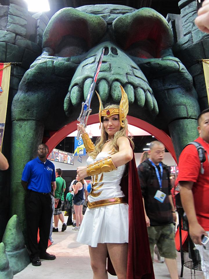 She-Ra defends Castle Grayskull - San Diego Comic-Con 2012
