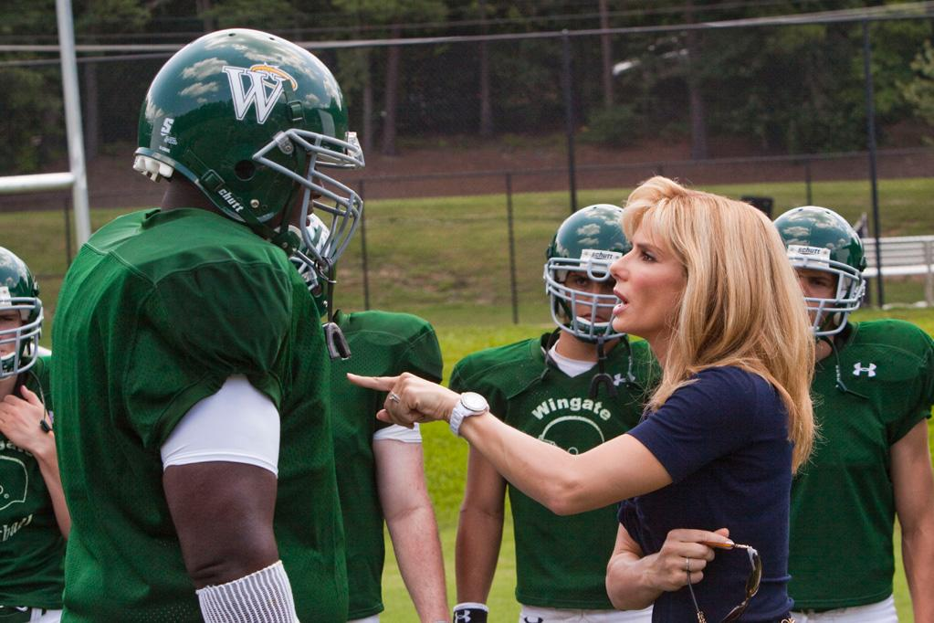 "<a href=""http://movies.yahoo.com/movie/1810088176/info"">THE BLIND SIDE</a>  Based on: The life of Michael Oher   Michael literally went from rags to a football scholarship, thanks to some considerable raw talent and to a little help from a football-obsessed interior designer named Leigh Anne Tuohy."