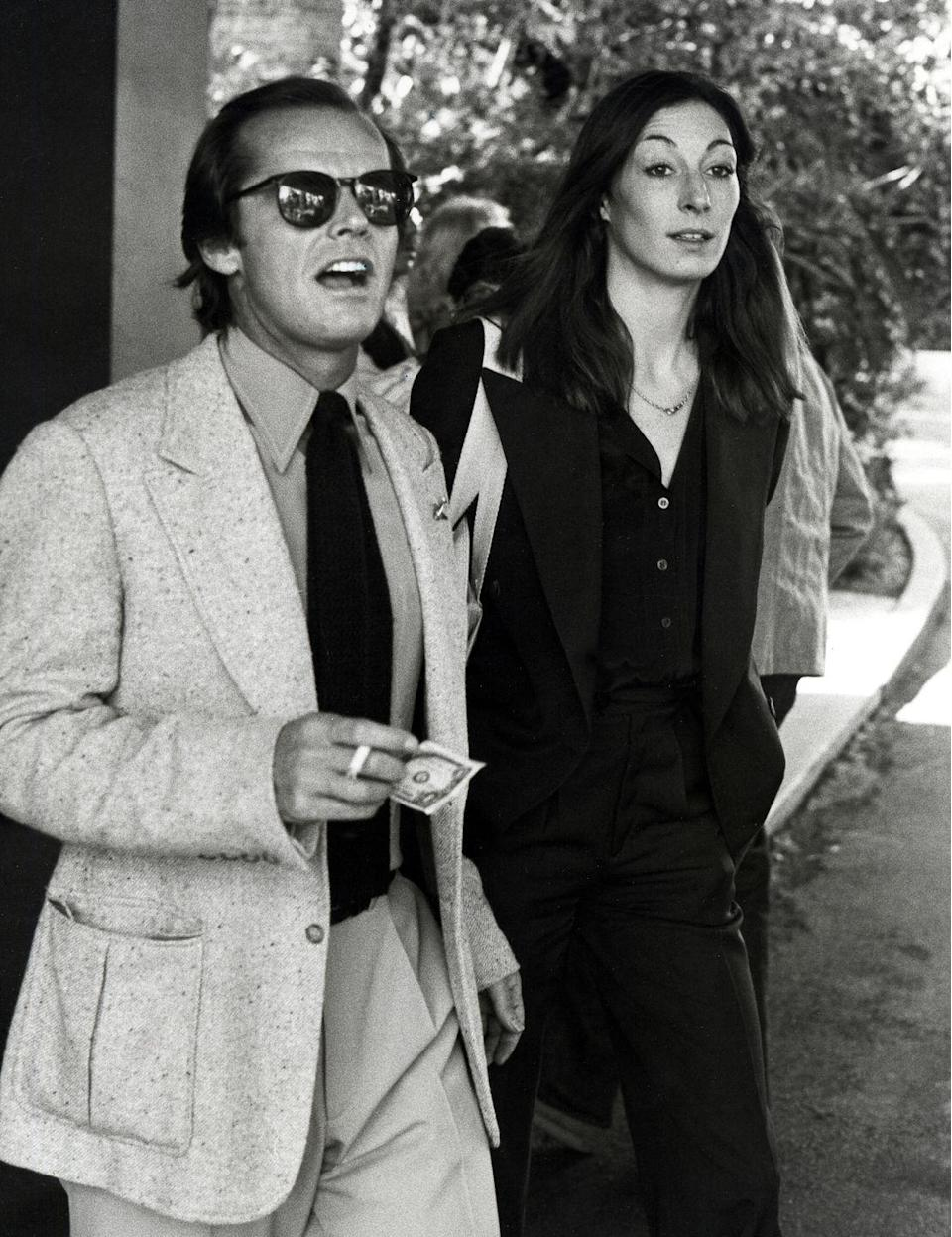 <p>Nicholson, who was dating the much-younger Anjelica Huston, had reached peak Nicholson at 40 (the shades, the suit, the smoke). </p>