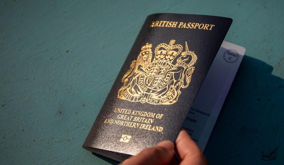 A copy of the British National (Overseas) passport. Photo: Bloomberg