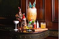 """<p>Whether you've been naughty or nice this year, this Sunday evening holiday pop up at The NoMad Bar has something on their dual cocktail lists for you, like the Lump of Coal made with mezcal, oloroso sherry, fig leaf, and verjus or the Candy Cane Colada with absinthe, Branca Menta, coconut, and pineapple, as well as group """"explosions"""" like the Santa's Little Helpers with vodka, sherry, passionfruit, vanilla and lime for 6 people. </p><p><em>Every Sunday from from 5PM-12AM, November 24-December 22nd, 2019. 10 W 28th Street. </em></p>"""