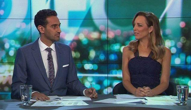 Co-host Carried Bickmore seemingly agreed with his stance. Source: Channel Ten