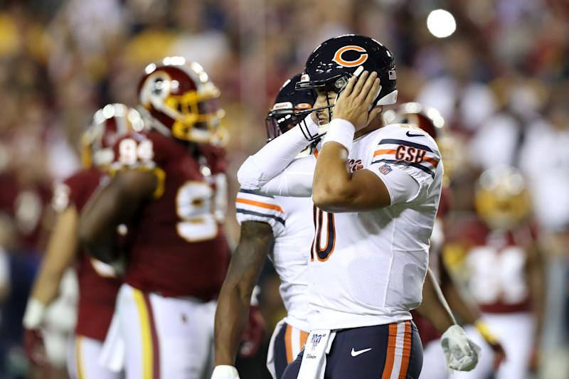 The Bears are 2-1 but QB Mitchell Trubisky isn't showing signs of improvement as he enters his third season in the league. (Getty Images)