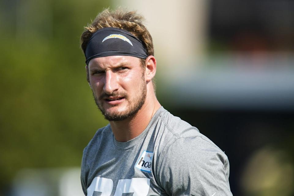 Chargers defensive end Joey Bosa looks on during minicamp on Wednesday.