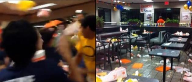 food fight. Photo: YouTube screenshot, Instagram/djmeltakespics