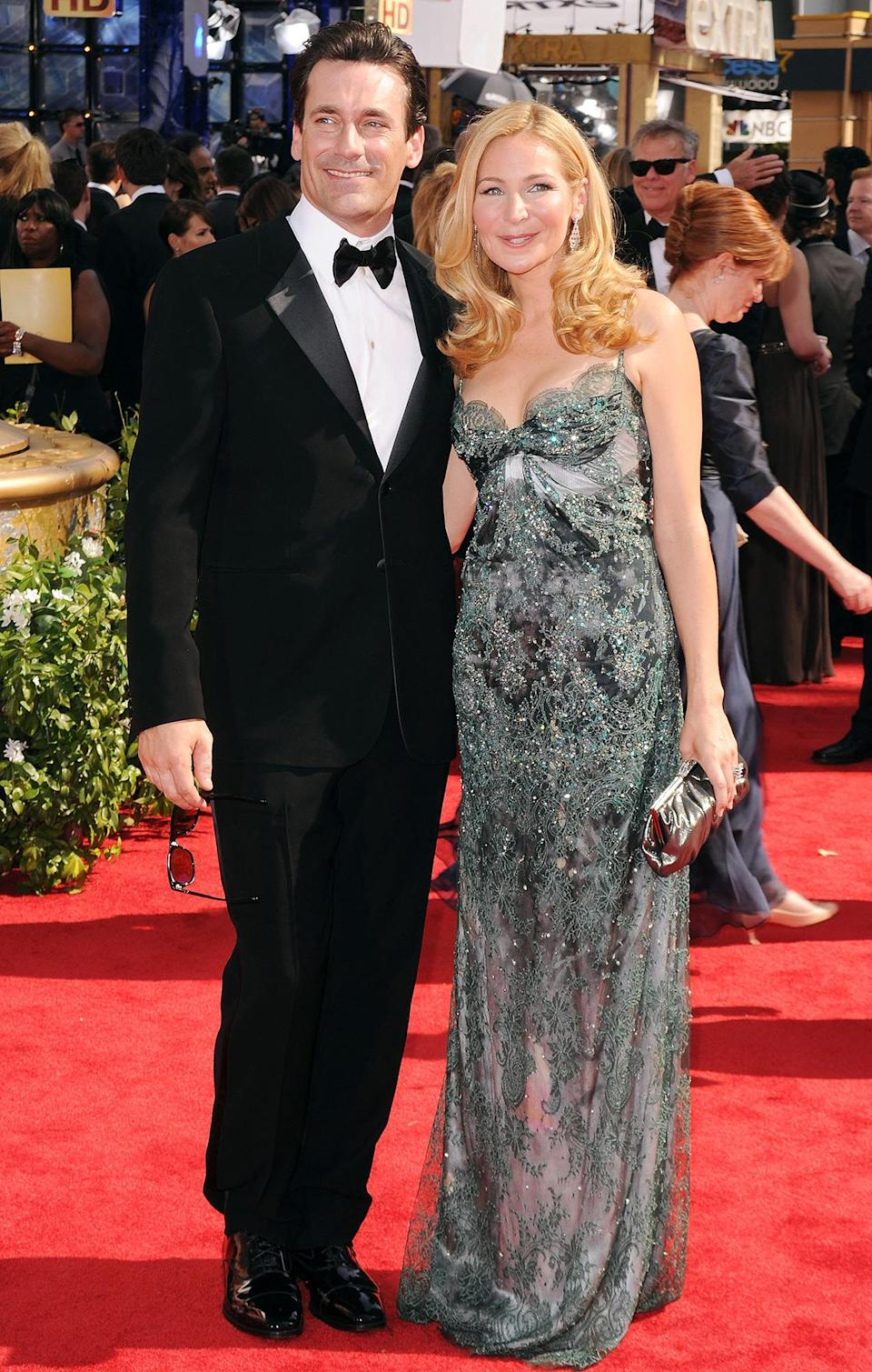 <p>Longtime loves Jon Hamm and Jennifer Westfeld walked the carpet together, five years before they would part ways.</p>